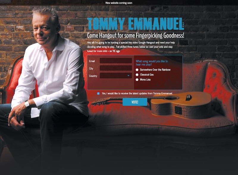 Обновление официального сайта Томми Эммануэля